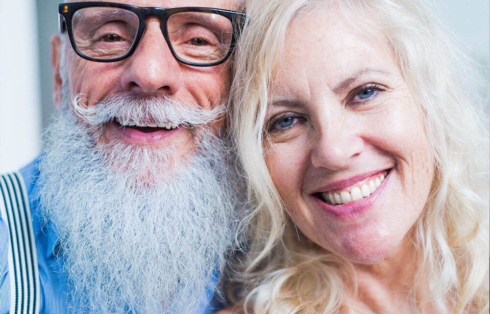 Nobody is too old for healthy teeth, a firm bite, and a lovely smile! Healthy teeth for adults over 60 years.